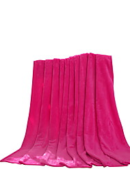 Flanelle Rose,Solide Solide 100 % Polyester couvertures 200x230cm