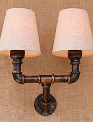 ac 220v-240v 6w e27 bg086-2 rustique / lodge fonctionnalité de laiton pour mur de lumière ampoule includedambient appliques murale