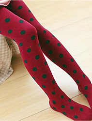 Mädchen Leggings-Lässig/Alltäglich Punkte Baumwolle Frühling / Herbst Grün / Rot