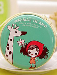 Travel Metal Cartoon Girl Pattern Change Headphones Storage Box(Random Color)