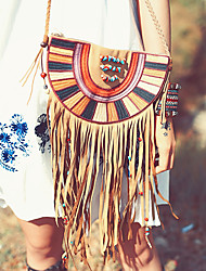 Aporia.As Women Poly urethane Shoulder Bag Brown-MZ19012