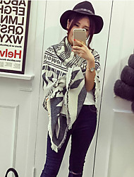 Women Polyester Scarf,Casual Square