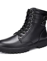 Черный Коричневый Серый-Мужской-Повседневный-ПолиуретанДругое-Ботинки