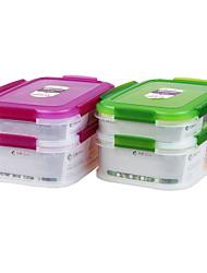 duplo compartimento de congelação de alimentos seguros recipiente de armazenamento legal almoço item de contêiner não. 467