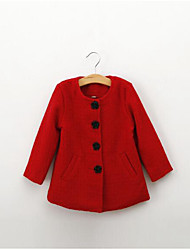 Girl's Going out Solid Down & Cotton Padded / Suit & BlazerNylon Spring / Fall Red / White