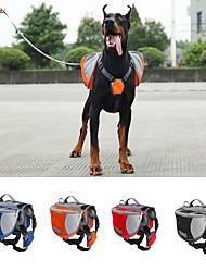 Hund Dog-Pack Haustiere Träger Wasserdicht / Tragbar rot / schwarz / blau / Orange Nylon