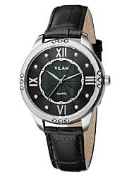VILAM® Women's Wrist watch Quartz Water Resistant/Water Proof Leather Band Imitation Diamond Sparkle Casual Wrist Watch