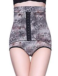 Women Plus Size High Waist Hook Eye Underwear Postnatal Slimming Abdomen Leopard Print Shaped pants