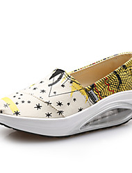 Women's Loafers & Slip-Ons  Platform Canvas Yellow/Red/ Fitness & Cross Training/Shake Shoe/Airbag