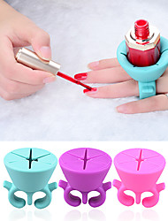 Wearable Nail Polish Holder Display Silicone Varnish Stand Manicure Nail Tools
