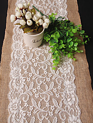 Rectangular Embroidered Table Runner , Linen / Rayon Material Wedding Party Decoration / Weddings