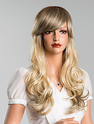 Attractive Colored Long Body Wave Capless Wigs High Quality Human Hair  24 Inches