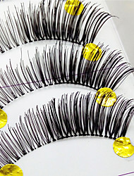 Eyelashes lash Full Strip Lashes Eyes Thick Lifted lashes Handmade Fiber Transparent Band 0.10mm 12mm