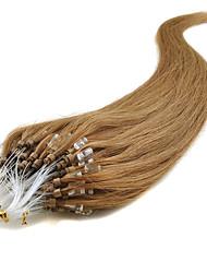 venta al por mayor las extensiones del pelo 16-24inch anillos micro del lazo / granos recto sedoso 0.5g / S100S naturales por paquete