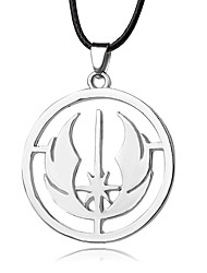 Necklace Star Wars Pendant Necklaces Jewelry Party / Daily Unique Design Alloy Coppery 1pc Gift