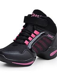 Для женщин-Повседневный-Ткань-На плоской подошве-Удобная обувь-Кеды