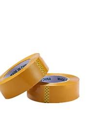 Observamos los dos envasados para su venta cinta amarilla 180cm * 4.5cm sellado cinta de embalaje
