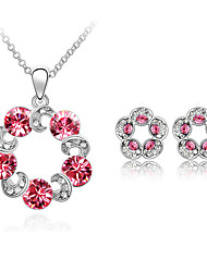 Thousands of colors   Jewelry Necklaces / Earrings Jewelry set Crystal Fashion Daily 1set Women -9-1-2-1131-106