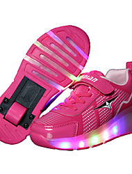 LED Light Up Shoes,Girl's Sneakers Spring / Summer / Fall / Winter Slide / Comfort Leather Outdoor / Athletic / Hook & Loop / Lace-up
