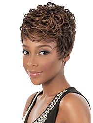 Curly Brown Color Fashion Wigs for Black Women