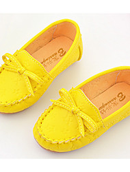 Girl's Loafers & Slip-Ons Comfort PU Casual Yellow Pink White