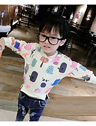 Girl's Casual/Daily Animal Print TeeCotton Spring / Fall White