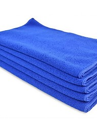 AUTOYOUTH 5Pc  Quick Dry Microfiber Towels Cleaning Cloth Anti-Scratch Car Detailing Care Towels Blue