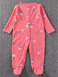 малыш Блуза-На каждый день,Горошек,Хлопок,Осень-Розовый / Красный / Белый