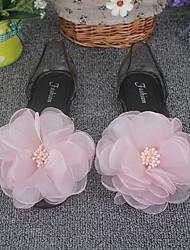 Women's Sandals Summer Comfort Rubber Casual Flat Heel Flower Black / Blue / Pink / Gray Others