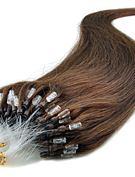 Free Shipping 100pcs/Lot 16-24Inch Micro Ring Natural Hair Extensions 0.5g/piece Fish Line Micro Loop Hair Extension