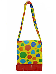 Halloween Props Cosplay Yellow Dot Printing Tassels Bags Purses Clown Gift Shoulder Bag