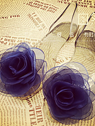 Women's Sandals Summer Comfort Rubber Casual Flat Heel Flower Black Blue Champagne Others