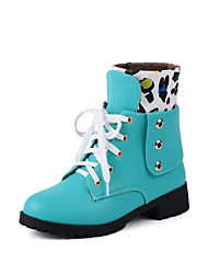 Women's Soft Material Round Closed Toe Assorted Color Low-top Low-Heels Boots