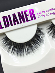 Full Strip Lashes Eyes Thick Handmade mink hair eyelash Black Band 0.10mm 12mm LD202