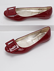 Women's Flats Fall Winter Comfort Leather Casual Flat Heel Others Black Red Almond Others
