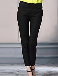 Pantaloni Da donna Skinny Semplice Cotone / Elastene Media elasticità