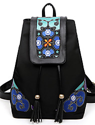Women Polyester / Cotton Sports / Casual / Outdoor Backpack Black