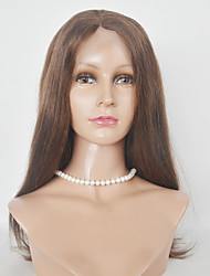 Long Length Malaysian Hair Synthetic Wigs Silky Strsight Full Lace  Wigs For Women