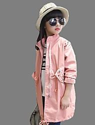 Mädchen Bluse / Trenchcoat-Lässig/Alltäglich einfarbig Baumwolle Winter Schwarz / Rosa
