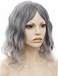 IMSTYLE12'Hot Selling Popular Gray Natural Wave Synthetic Machine Wigs No Lace