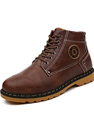 Men's Boots Fall / Winter Others Leather Casual Lace-up Black / Brown / Gray Others