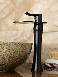 salle de bains robinet d'évier avec finition antique orbe cascade robinet centerset