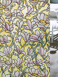 Window Film Window Decals Style Fashion Magnolia Flower PVC Window Film - (100 x 45)cm