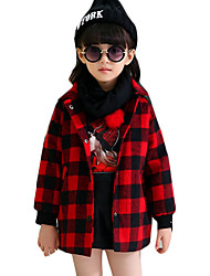 Girl's Casual/Daily / School Plaid Down & Cotton Padded,Wool Winter Purple / Red / Yellow