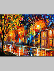 Hand-Painted Knife Landscape Oil Painting On Canvas Modern Abstract Wall Art Pictures For Home Decoration Ready To Hang