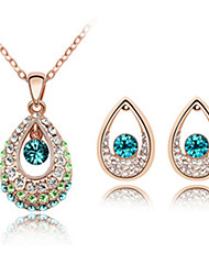 Thousands of colors  Jewelry Necklaces / Earrings Jewelry set Crystal Fashion Daily 1set Women -5013