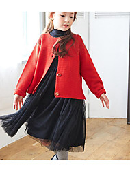Girl's Casual/Daily Solid Sweater & CardiganCotton Spring / Fall Red / Yellow / Gray