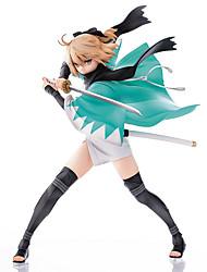 Fate/zero Okita Souji PVC 24.5cm Figuras de Ação Anime modelo Brinquedos boneca Toy
