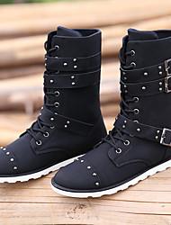 Men's Boots Comfort PU Casual Comfort Black 1in-1 3/4in