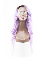New Style Purple Hair Lace Front Natural Wavy Synthetic Lace Wigs